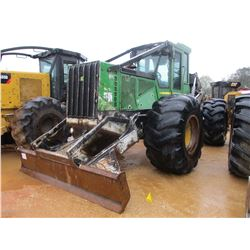 2008 JOHN DEERE 648H SKIDDER, VIN/SN:618174 - GRAPPLED, DUAL ARCH, WINCH, ECAB W/AIR, 30.5L-32 TIRES