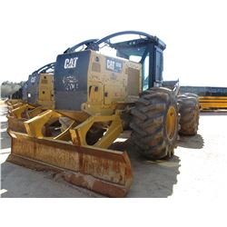 2015 CAT 525D SKIDDER, VIN/SN:GKP00124 - GRAPPLE, SINGLE ARCH, WINCH, ECAB W/AIR, 30.5L32 TIRES, MET
