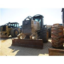 2015 CAT 525D SKIDDER, VIN/SN:GKP00175 - GRAPPLE, SINGLE ARCH, WINCH, ECAB W/AIR, 30.5L32 TIRES, MET