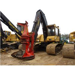 TIGERCAT 845B TRACK FELLER BUNCHER, - QUADCO 22CP ROTATING SAW HEAD, ECAB, METER READING 9,763 HOURS
