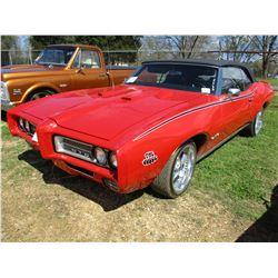 1969 PONTIAC BOSS GTO CONVERTABLE, VIN/SN:242679B140883 - V8 GAS ENGINE, 4 SPEED TRANS ODOMETER READ