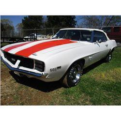 1969 CHEVROLET CAMARO, VIN/SN:124679N611315 - CONVERTIBLE, 350 GAS ENGINE, 4 SPEED TRANS