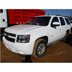 2012 CHEVROLET TAHOE VIN/SN:1GN5CBE01CR181377 - GAS ENGINE, A/T, ODOMETER READING 65,393 MILES