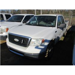 2007 FORD F150 PICKUP, VIN/SN:1FTRX12W67NA00253 - EXT CAB, V8 GAS ENGINE, A/T, ODOMETER READING 152,