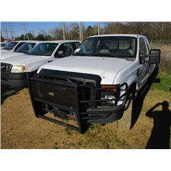 2008 FORD F250 PICK UP, VIN/SN:1FTSX21R48EA20361 - 4X4, EXTENDED CAB, FORD POWERED DIESEL ENGINE, A/