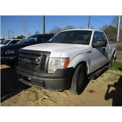 2011 FORD F150 VIN/SN:1FTEX1EMXBFB46859 - 4X4, EXT CAB, V8 GAS ENGINE, A/T, ODOMETER READING 140,188
