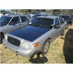 2008 FORD CROWN VICTORIA VIN/SN:2FAHP71V98X159572 - V8 GAS ENGINE, A/T, ODOMETER READING 159,988 MIL