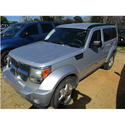 2009 DODGE NITRO VIN/SN:1D8GU28K99W523887 - 4X4, V6 GAS ENGINE, A/T, ODOMETER READING 131,303 MILES