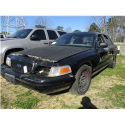 2008 FORD CROWN VICTORIA, VIN/SN:2FAFP71V58X167871 - V8 GAS ENGINE, A/T (STATE OWNED)