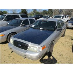 2008 FORD CROWN VICTORIA VIN/SN:2FAHP71V38X159616 - V8 GAS ENGINE, A/T, ODOMETER READING 218,019 MIL