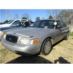 2010 FORD CROWN VICTORIA VIN/SN:2FABP7BV4AX106627 - V8 GAS ENGINE, A/T, (STATE OWNED)