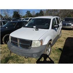 2008 DODGE DURANGO VIN/SN:1D8HB38N18F135691 - V8 GAS ENGINE, A/T, ODOMETER READING 157,031 MILES (ST
