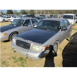 2007 FORD CROWN VICTORIA, VIN/SN:2FAHP71W07X145024 - V8 GAS ENGINE, A/T (STATE OWNED)