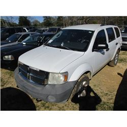 2007 DODGE DURANGO VIN/SN:1D8HB38P67F554068 - V8 GAS ENGINE, A/T (STATE OWNED)