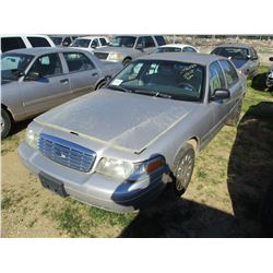2007 FORD CROWN VICTORIA VIN/SN:2FAFP73V27X133057 - V8 GAS ENGINE, A/T (STATE OWNED)
