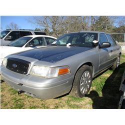 2008 FORD CROWN VICTORIA, VIN/SN:2FAHP71V08X159606 - V8, GAS ENGINE, A/T (STATE OWNED)