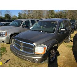 2006 DODGE DURANGO VIN/SN:1D4HB48N66F157478 - V8 GAS ENGINE, A/T, ODOMETER READING 208,541 MILES (ST