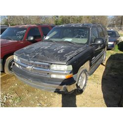 2003 CHEVROLET TAHOE VIN/SN:1GNEC13Z03J230415 - V8 GAS ENGINE, A/T (STATE OWNED)