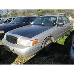 2009 FORD CROWN VICTORIA, VIN/SN:2FAHP71V49X143359 - V8 GAS ENGINE, A/T (STATE OWNED)