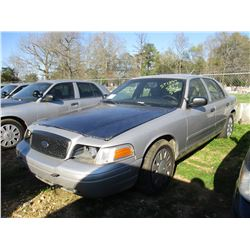 2008 FORD CROWN VICTORIA, VIN/SN:2FAHP71V98X159605 - V8 GAS ENGINE, A/T (STATE OWNED)