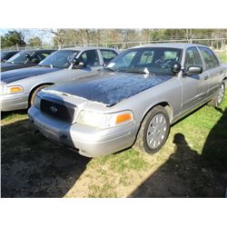 2006 FORD CROWN VICTORIA, VIN/SN:2FAHP71W76X147295 - V8 GAS ENGINE, A/T (STATE OWNED)
