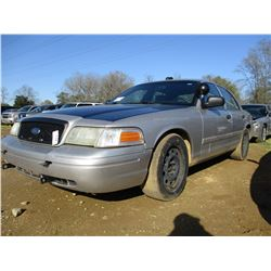 2005 FORD CROWN VICTORIA, VIN/SN:2FAHP71V59X14335 - V8 GAS ENGINE, A/T, ODOMETER READING 234,140 MIL