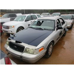2004 FORD CROWN VICTORIA VIN/SN:2FAHP71W24X173770 - V8 GAS ENGINE, A/T (DOES NOT OPERATE) (STATE OWN
