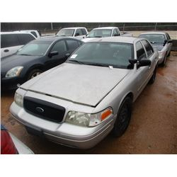 2008 FORD CROWN VICTORIA VIN/SN:2FAHP71V58X159584 - V8 GAS ENGINE, A/T (DOES NOT OPERATE) (STATE OWN