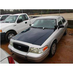 2007 FORD CROWN VICTORIA VIN/SN:2FAHP71W27X145035 - V8 GAS ENGINE, A/T (DOES NOT OPERATE) (STATE OWN