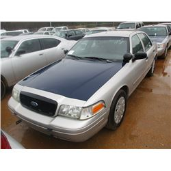 2008 FORD CROWN VICTORIA VIN/SN:2FAHP71V58X159603 - V8 GAS ENGINE, A/T (STATE OWNED)