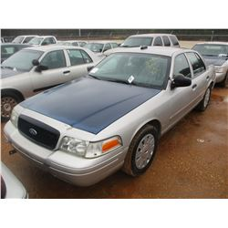 2007 FORD POLICE INTERCEPTOR, VIN/SN:2FAHP71W57X144977 - V8 ENGINE, A/T (DOES NOT OPERATE) (STATE OW