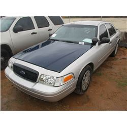2008 FORD POLICE INTERCEPTOR, VIN/SN:2FAHP71V28X160207 - V8, A/T (DOES NOT OPERATE) (STATE OWNED)