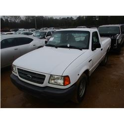 2002 FORD RANGER PICKUP, VIN/SN:1FTYR10U32TA64617 - V6 GAS ENGINE, A/T (STATE OWNED)