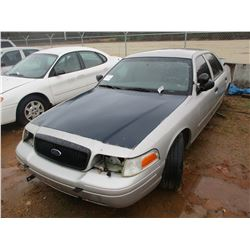 2008 FORD CROWN VICTORIA VIN/SN:2FAHP71V88X159594 - V8 GAS ENGINE, A/T (DOES NOT OPERATE) (STATE OWN