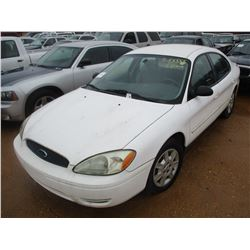 2005 FORD TAURUS SE VIN/SN:1FAFP53U75A260856 - V6 GAS ENGINE, A/T (DOES NOT OPERATE) (STATE OWNED)