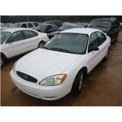 2005 FORD TAURUS VIN/SN:1FAFP53UX5A260852 - V6 GAS ENGINE, A/T (DOES NOT OPERATE) (STATE OWNED)