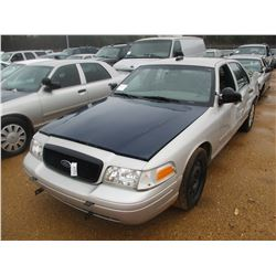 2008 FORD CROWN VICTORIA VIN/SN:2FAHP71V68X159609 - GAS ENGINE, A/T (STATE OWNED)