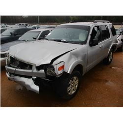 2009 FORD EXPLORER VIN/SN:1FMEU63E69UA38824 - V8 GAS ENGINE, A/T (DOES NOT OPERATE) (STATE OWNED)