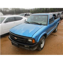 1995 CHEVROLET S10 PICKUP, VIN/SN:1GCCS1424S8237732 - V6 GAS ENGINE, A/T (DOES NOT RUN) (STATE OWNED