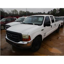1999 FORD F250 PICKUP, VIN/SN:1FTNW20F8XEF03955 - CREW CAB, POWERSTROKE DIESEL ENGINE, A/T, ODOMETER