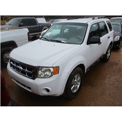 2009 FORD ESCAPE, VIN/SN:1FMCU02759KA74913 - GAS ENG, A/T, ODOMETER READING 96,761 MILES