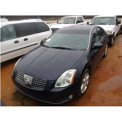 2006 NISSAN SENTRA VIN/SN:1N4BA41E66C858934 - GAS ENGINE, A/T, SUN ROOF, P/W, P/DL, ODOMETER READING
