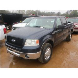 2006 FORD F150 PICKUP, VIN/SN:1FTPW12V16KD75940 - V8 GAS ENGINE, A/T, CREW CAB, P/S, A/C, P/W, P/DL,