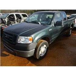 2006 FORD F150 PICK UP, VIN/SN:1FTPX14V76NB01876 - 4X4, EXTENDED CAB, V8 GAS ENGINE, A/T, ODOMETER R