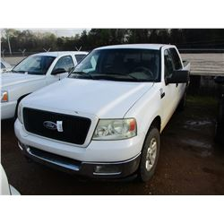 2004 FORD F150 PICKUP, VIN/SN:1FTPW14594KC60111 - CREW CAB, 4X4, GAS ENGINE, A/T, ODOMETER READING 2