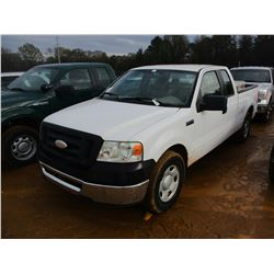 2006 FORD F150 VIN/SN:1FTPX125X6KC92231 - EXTENDED CAB, V8 GAS ENGINE, A/T, ODOMETER READING 125,744