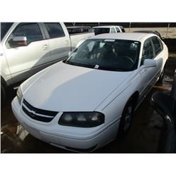 2004 CHEVROLET IMPALA VIN/SN:2G1WH52K949152121 - GAS ENGINE, A/T, ODOMETER READING 118,753 MILES