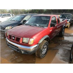 2000 NISSAN FRONTIER PICK UP, VIN/SN:1N6ED26T8YC409586 - GAS ENGINE, 5 SPEED TRANSMISSION, ODOMETER