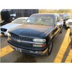 1999 CHEVROLET 1500 PICK UP, VIN/SN:2GCEC19T1X1129587 - EXTENDED CAB, V8 GAS ENGINE, A/T, ODOMETER R