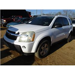2005 CHEVROLET EQUINOX VIN/SN:2CNDL63F656060354 - GAS ENGINE, A/T, ODOMETER READING 153,858 MILES
